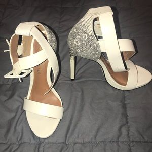 Aldo White Heels like New